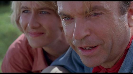 Laura Dern and Sam Neill in Jurassic Park